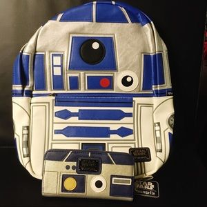 Loungefly Star Wars R2D2 Full Backpack & Wallet
